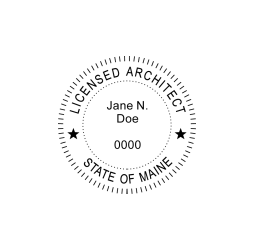 Maine Licensed Architect Seal