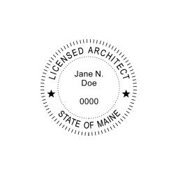 Maine Licensed Architect Seal