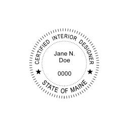 Maine Certified Interior Designer Seal