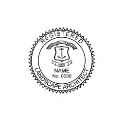 Rhode Island Registered Landscape Architect Seal