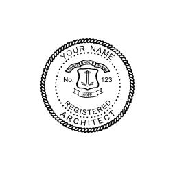 Rhode Island Registered Architect Seal