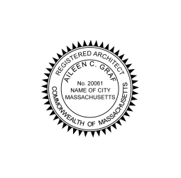 Massachusetts Registered Architect Seal