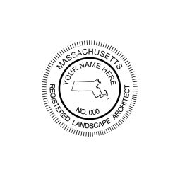 Massachusetts Registered Landscape Architect Seal