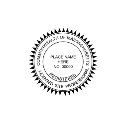 Massachusetts Licensed Site Professional Seal