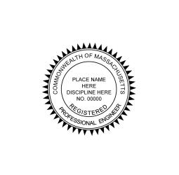 Massachusetts Professional Engineer Seal