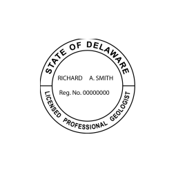 Delaware Professional Geologist Seal