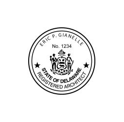Delaware Architect Seal