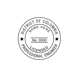 District of Columbia Engineer, Structural & Land Surveyors Seal