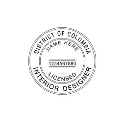District of Columbia Interior Designer Seal
