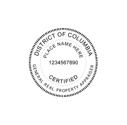 District of Columbia Real property Appraiser Seal