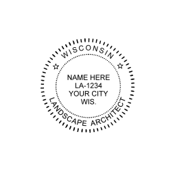 Wisconsin Landscape Architect Seal