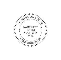 Wisconsin Land Surveyor Seal