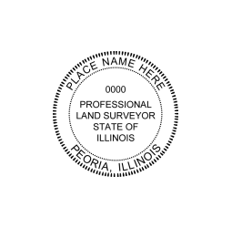 Illinois Professional Land Surveyor Seal