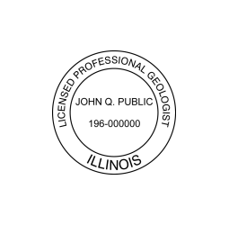 Illinois Professional Geologist Seal