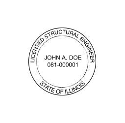Illinois Licensed Structural Engineer Seal