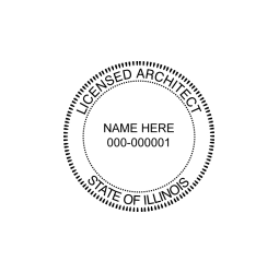 Illinois Licensed Architect Seal