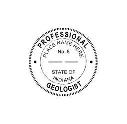 Indiana Professional Geologist Seal