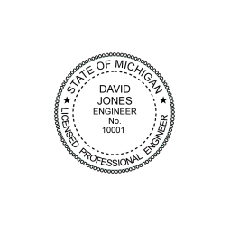 Michigan Professional Engineer Seal