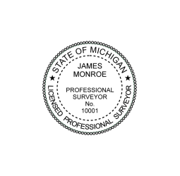 Michigan Professional Surveyor Seal