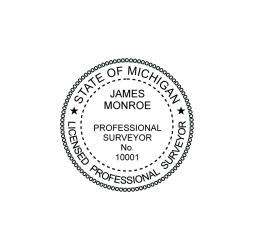 Michigan Professional Surveyor Seal