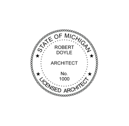 Michigan Licensed Architect Seal