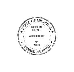 Michigan Licensed Architect Seal