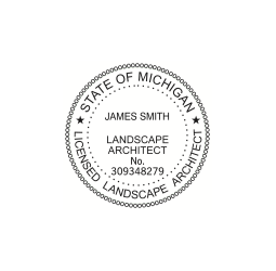 Michigan Licensed  Landscape Architect Seal