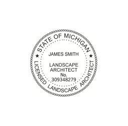 Michigan Licensed  Landscape Architect Seal