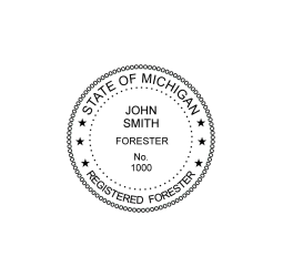 Michigan Registered Forester Seal