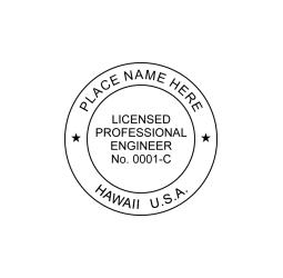 Hawaii Professional Engineer Seal
