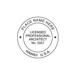 Hawaii Professional Architect Seal