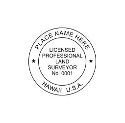 Hawaii Professional Land Surveyor Seal