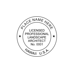 Hawaii Professional Landscape Architect Seal