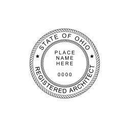 Ohio Registered Architect Seal