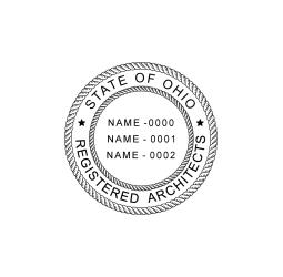 Ohio Registered 3 Architects Seal