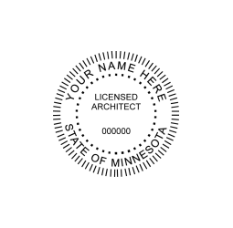 Minnesota Licensed Architect Seal