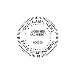Minnesota Licensed Architect Seal