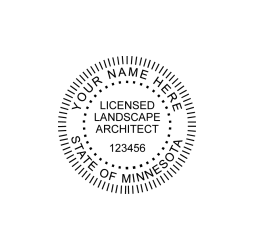 Minnesota Licensed Landscape Architect Seal