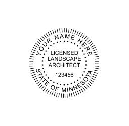 Minnesota Licensed Landscape Architect Seal