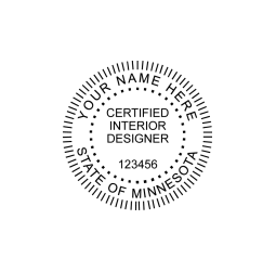Minnesota Certified Interior Designer Seal