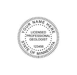 Minnesota Professional Geologist Seal