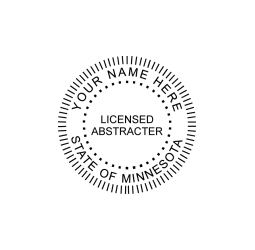 Minnesota Licensed Abstracter Seal
