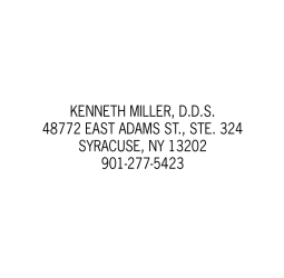 4 Line Address Stamps