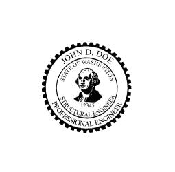 Washington Structural Engineer Seal