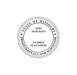 Missouri Land Surveyor Seal