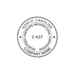 North Carolina Registered Landscape Architectural Corporation Seal