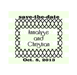 Save The Date Cross Hatch Stamp