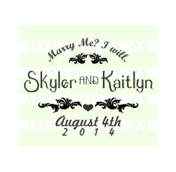 Save-The-Date Marry Me Stamp