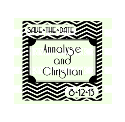 Chevron Save-The-Date Stamp