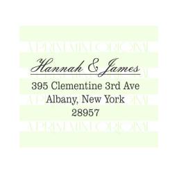 Wedding Return Address Elegant Stamp